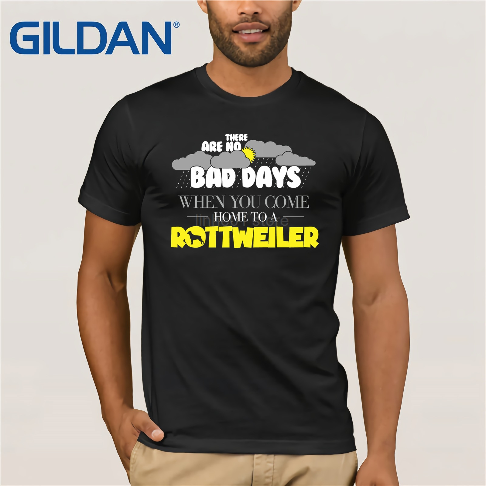 100% Quality Gildan Funny Rottweiler T Shirt There Are No Bad Days When You Co Summer T-shirt Rapid Heat Dissipation