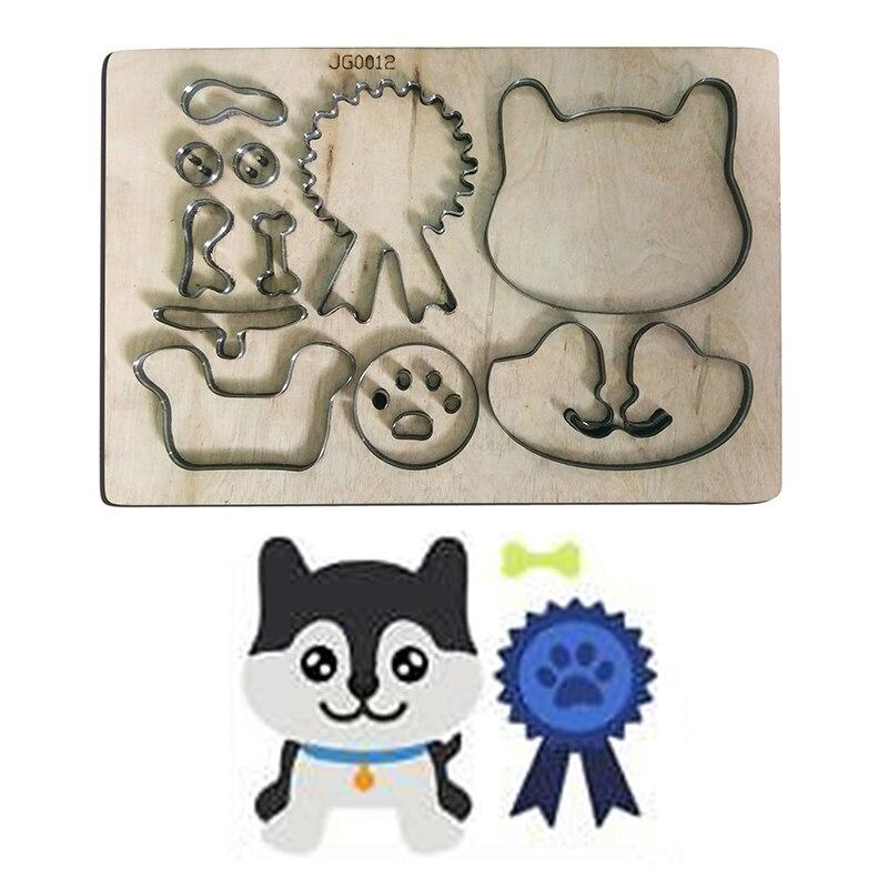 Os de chien bricolage moule en bois artisanat coupe meurt pour créer Scrapbooking Album gaufrage cartes de papier/feutre tissu poupées