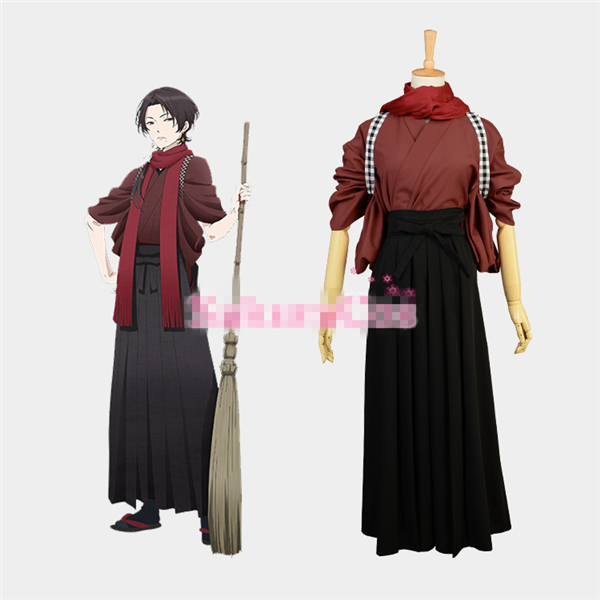 New Clothing Made Anime Touken Ranbu Online Kashuu Kiyomitsu Uniform Cosplay Costume Shirt+Pants+Scarf