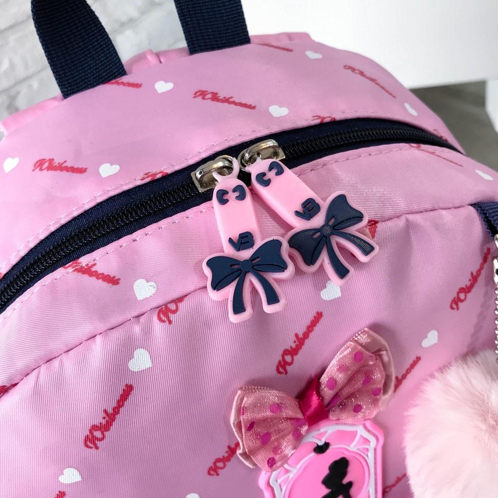 Women Bow Canvas Three-piece School Bag 37