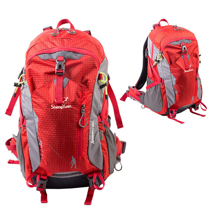 Hot Sale 40L Outdoor Backpack Camping Bag Waterproof Mountaineering Hiking Backpacks Molle Sport Bag Climbing Rucksack professional climbing outdoor sport waterproof bags backpacks camping hiking traveling mountain bags backpacks 45l hot sale