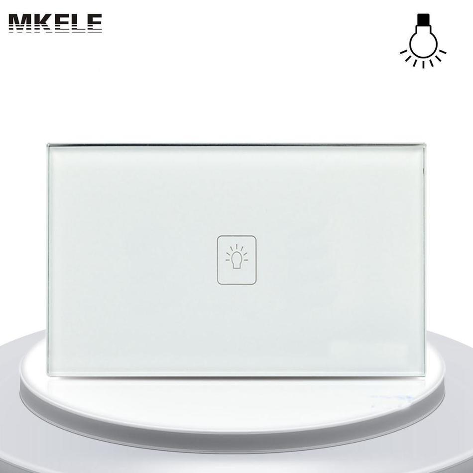 Touch Dimmer Switch Sensor 1 Gang 1 Way  Glass Panel+Adjust LED Wall Light smart home us au wall touch switch white crystal glass panel 1 gang 1 way power light wall touch switch used for led waterproof