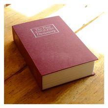 цена на Practical Boutique Dictionary Book Safe Diversion Secret Hidden Security Stash Booksafe Lock&Key Blue