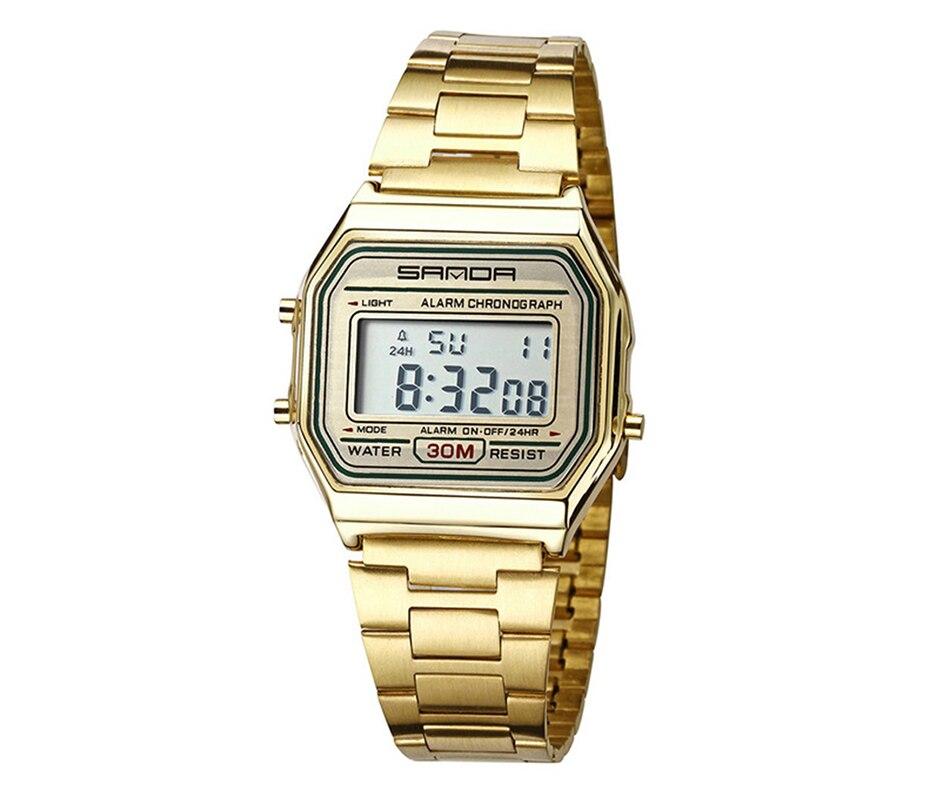 2e688ca6d41 2019 SANDA Rosa de Ouro Esporte Relógios Das Mulheres De Luxo de ...