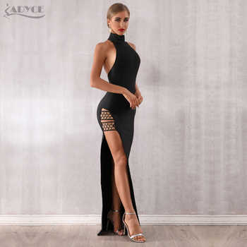 Adyce 2019 New Summer Black Bandage Dress Sexy Sleeveless Halter Hollow Out Maxi Club Dress Celebrity Runway Party Dress Vestido - DISCOUNT ITEM  46% OFF All Category