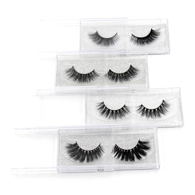 AMAOLASH Eyelashes 3D Mink Lashes Long Lasting Volume Dramatic Eyelashes Makeup Eyelash Extension Natural False Eyelashes 6