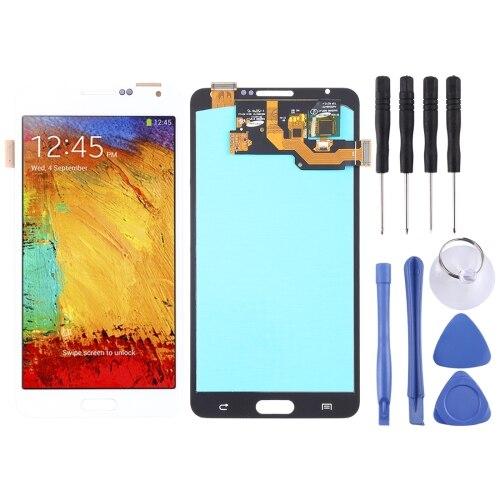Ecran LCD et numériseur montage complet (matériau OLED) pour Galaxy Note 3, N9000 (3G), N9005 (3G/LTE) (blanc)