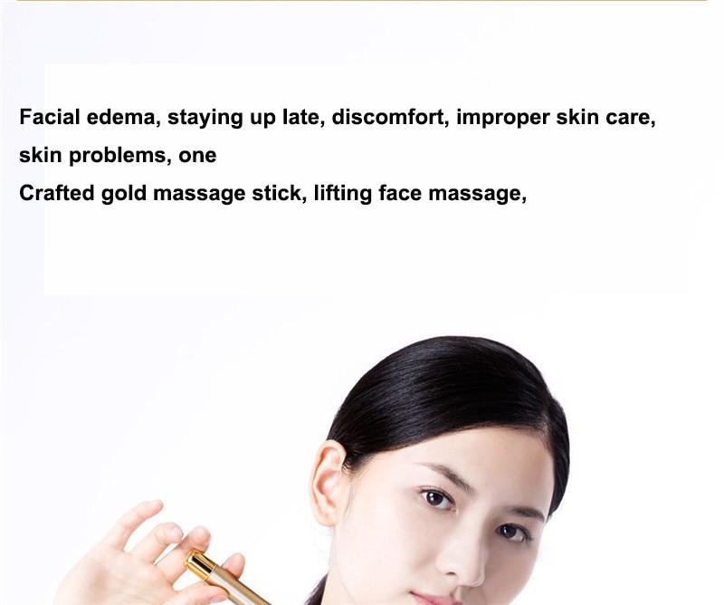 Xiaomi InFace Gold Beauty Bar Gold-plated Massage head Speed Up Metabolism Improve Edema Face-lifting SPA Portable Beauty Bar (2)