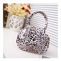 Мода лето сумки женщин браун леопардовым узором оболочки сумка чехол денежный мешок клатч
