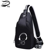 FengDong маленькие сумки через плечо для женщин сумки-мессенджеры мужские повседневные слинг на груди сумка мужская мини непромокаемая Дорожная сумка на плечо