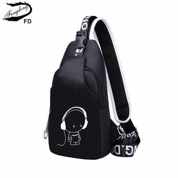 FengDong small crossbody bags for women messenger bags men casual sling chest bag male mini waterproof travel shoulder bag pack - DISCOUNT ITEM  51% OFF All Category