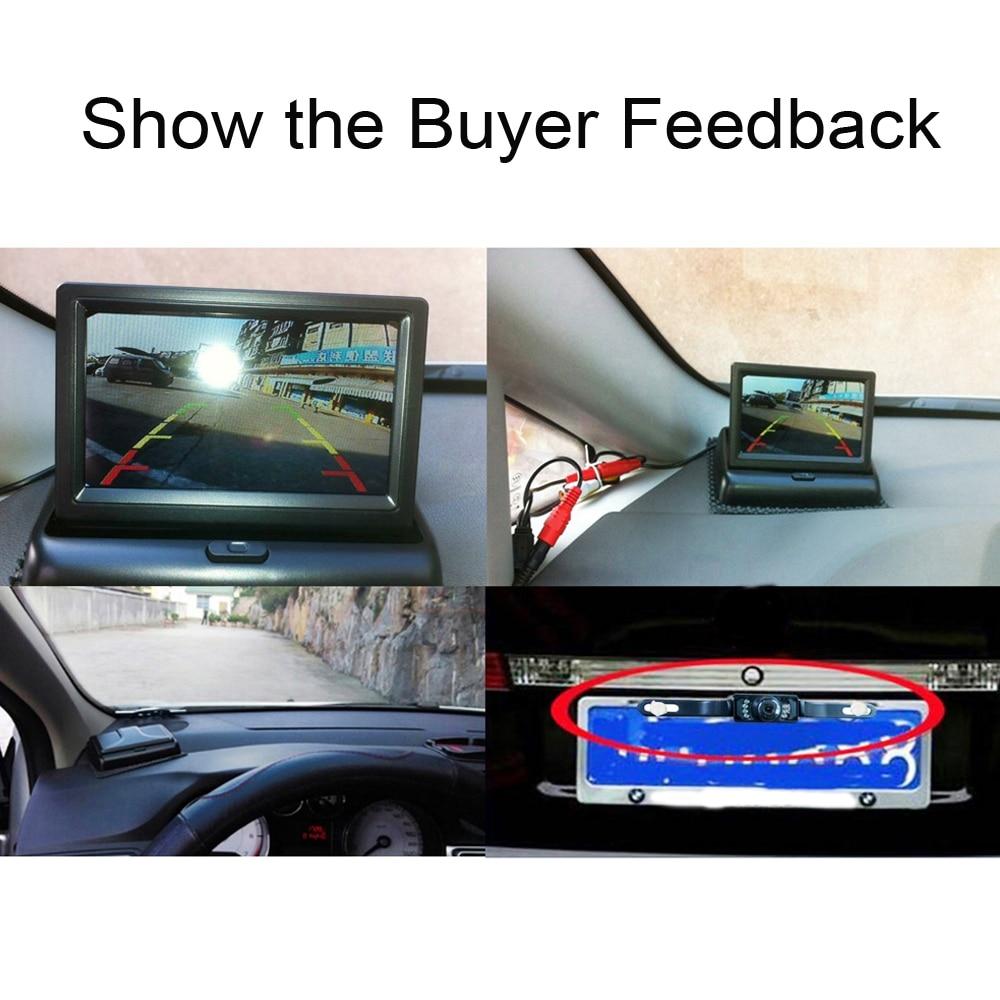 Image 4 - Hikity 4.3 אינץ מתקפל רכב צג TFT LCD תצוגת מצלמות הפוכה מצלמה חניה מערכת לרכב Rearview מוניטורים/מצלמהצגים לרכב   -