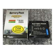 CGA-DU21 CGA DU21 lithium batteries DU21 Digital camera battery CGADU21 For Panasonic CGA-DU06 CGA-DU21 DZ-GX20 DZ-MV750 PV-GS35