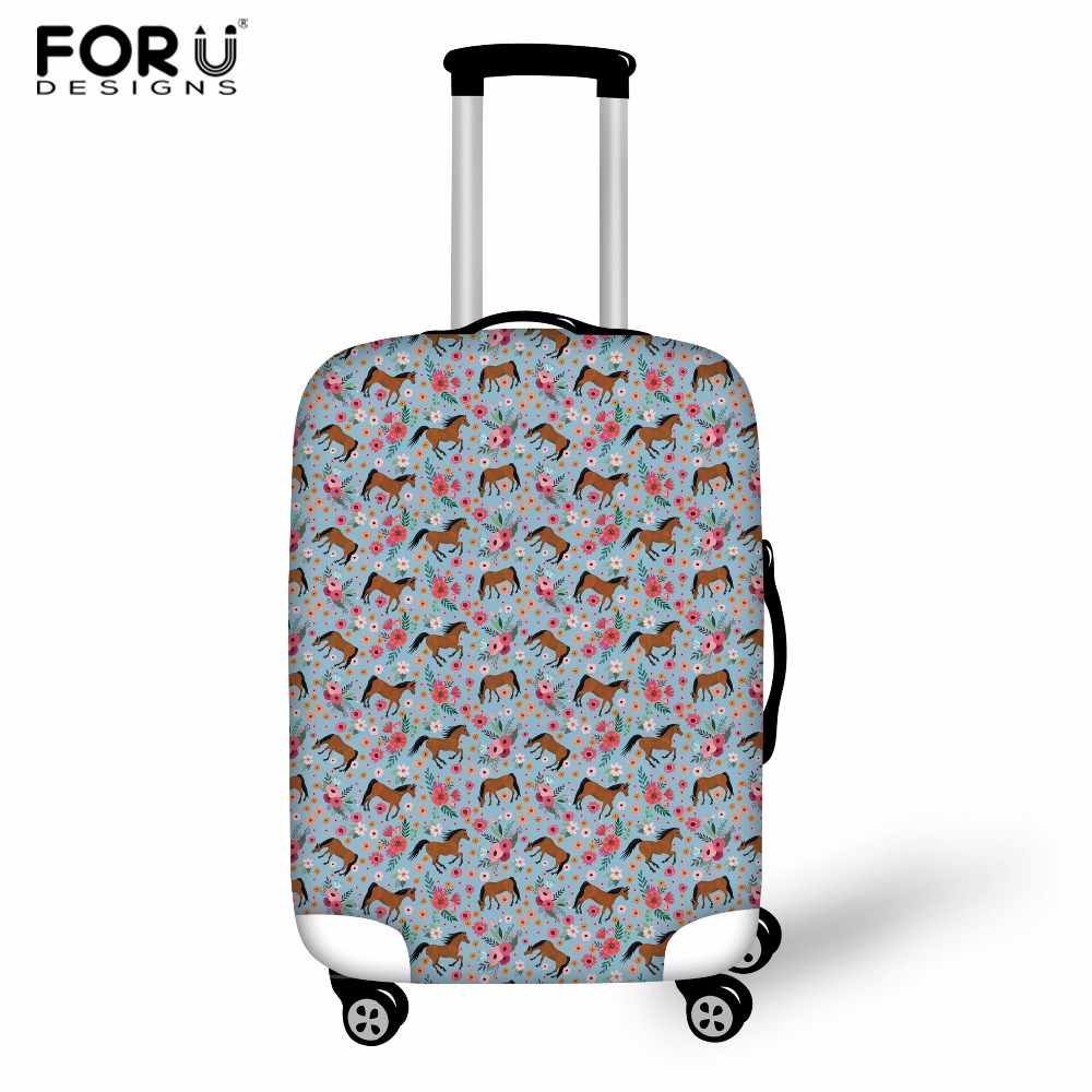FORUDESIGNS Horse Elastic Thick Luggage Cover for Trunk Case Apply to 18-30 Suitcase,Suitcase Protective Cover Travel Accessor