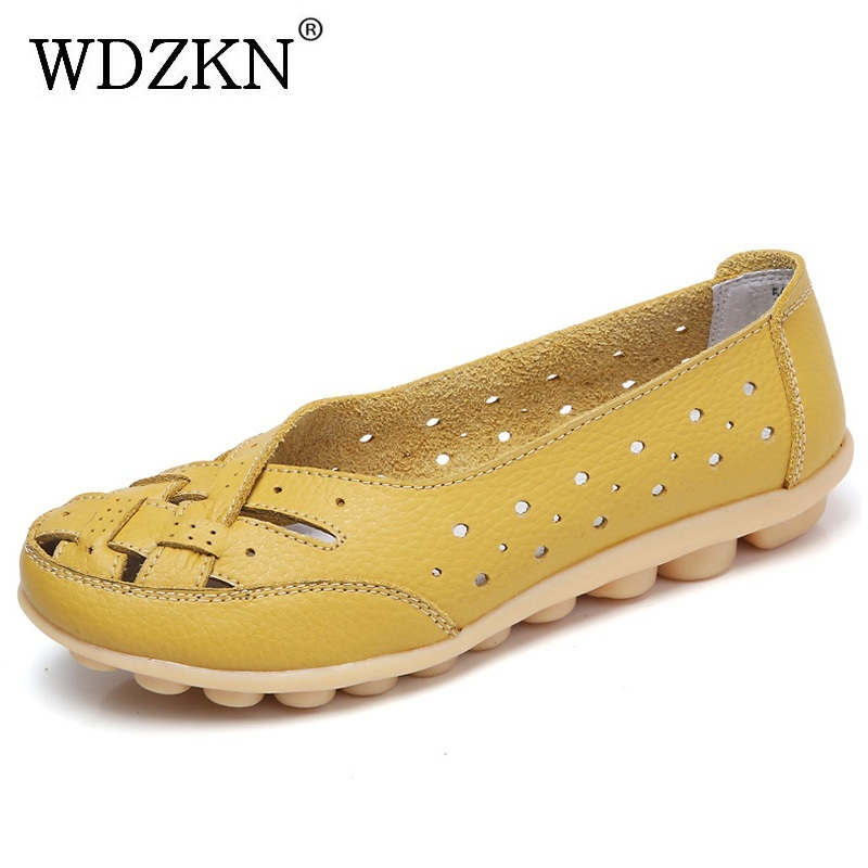 WDZKN 2017 Spring Summer Women Casual Shoes Hollow Out Flat Shoes Woman Slip On Loafers Soft Flats Women Shoes Big Size 35-44 lacywear платье s 1 ves