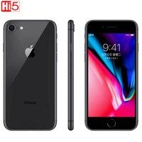 Разблокированный Apple iphone 8 64G/256G rom Беспроводная зарядка iOS Hexa core отпечаток пальца A11 бионический отпечаток пальца мобильный б/у смартфон