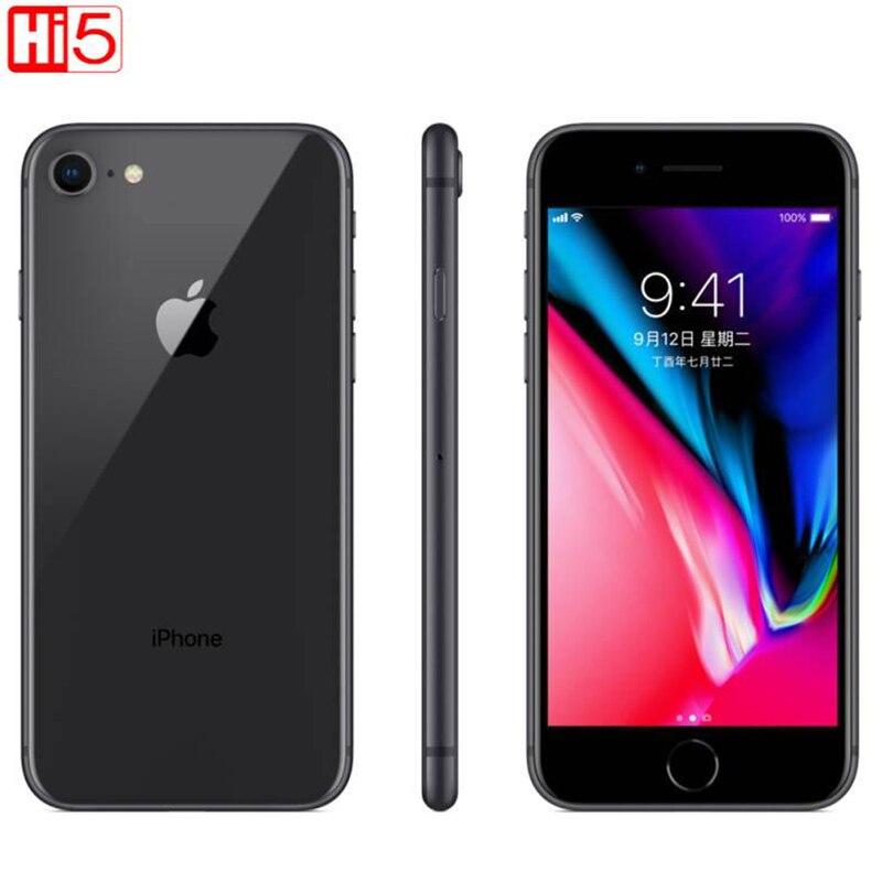 Desbloqueado apple iphone 8 64g/256g rom carga sem fio ios hexa núcleo impressão digital a11 biônico impressão digital móvel usado telefone inteligente