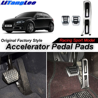LitangLee Car Accelerator Pedal Pad Cover For Audi A3 8P 2003~2013 MT LHD Sport Racing Design Foot Throttle Pedal Cover