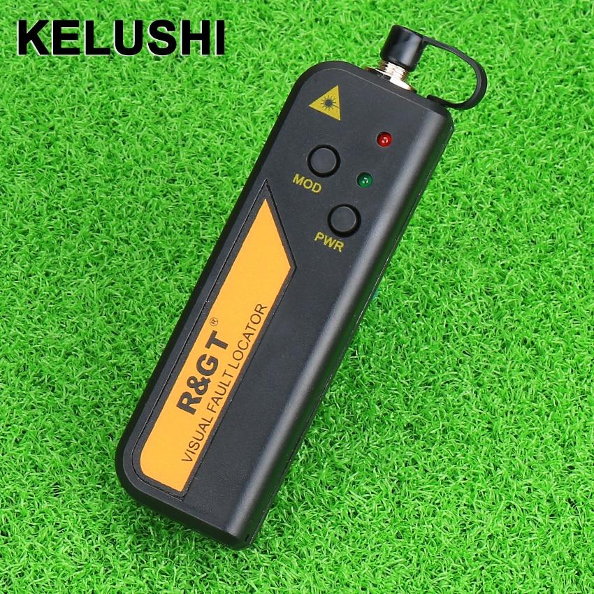 KELUSHI R&GT 20MW Red Laser Pen Mini Localizator de defecte vizuale Tester de cablu din fibră optică pentru CATV