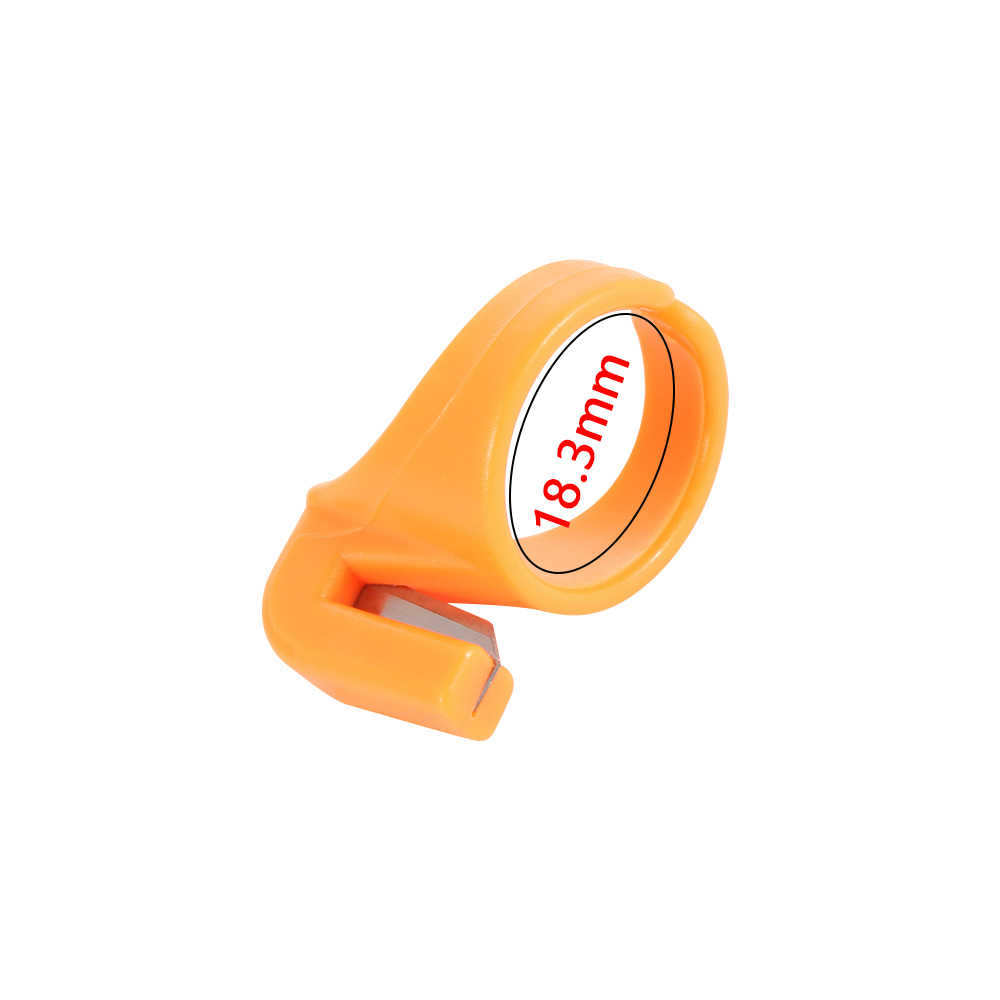 3 יח'\סט חדש פלסטיק אצבעון תפירת טבעת חוט חותך אצבע להב מחט מלאכת תפירה ביתית מכונת אבזר