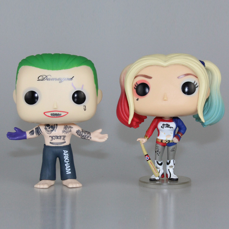 Original Box Suicide Squad Harley Quinn PVC 10cm Harly Action Figur Super Heroes Collection Model Movie Kids Leksaker