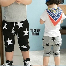 NZ198,Free Shipping! children boy clothing Kids girls clothes trousers Summer Star Pants Birthday Gift pants for boys girls