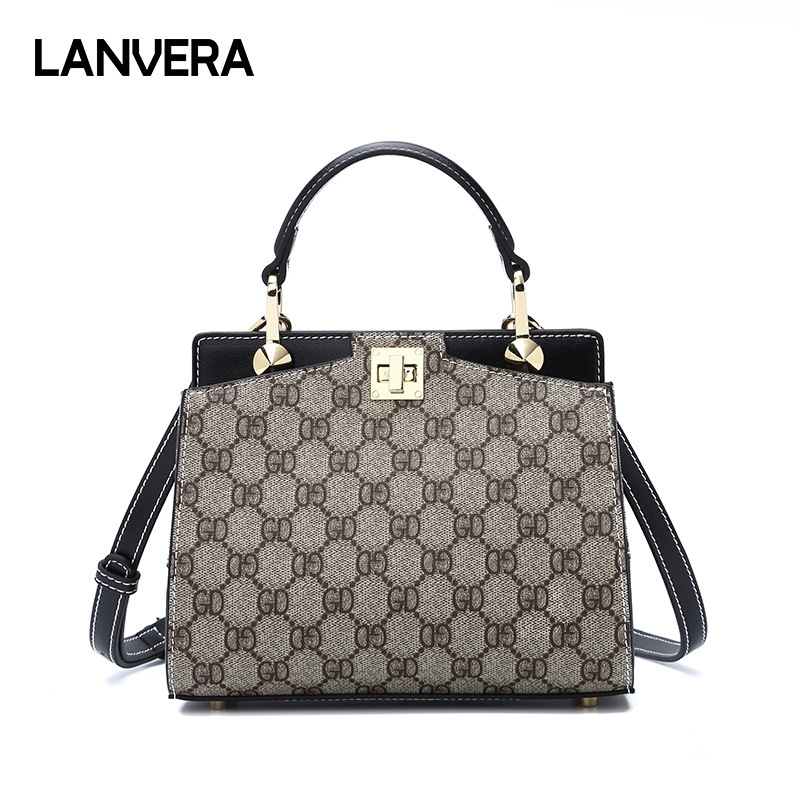 2018 Famous Brands Simple Retro Handbag Luxury Diamond Printing Shoulder Bag Famous Designer Small Square Crossbody Bag цена