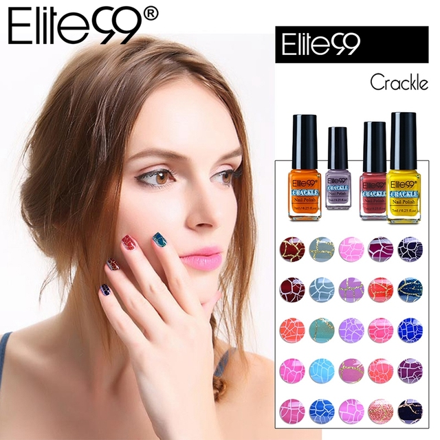 Elite99 Professional Cracking Gel Nail Polish Soak Off UV Crackle Shatter Nail Varnish Gel LED Lamp Nail Art Design