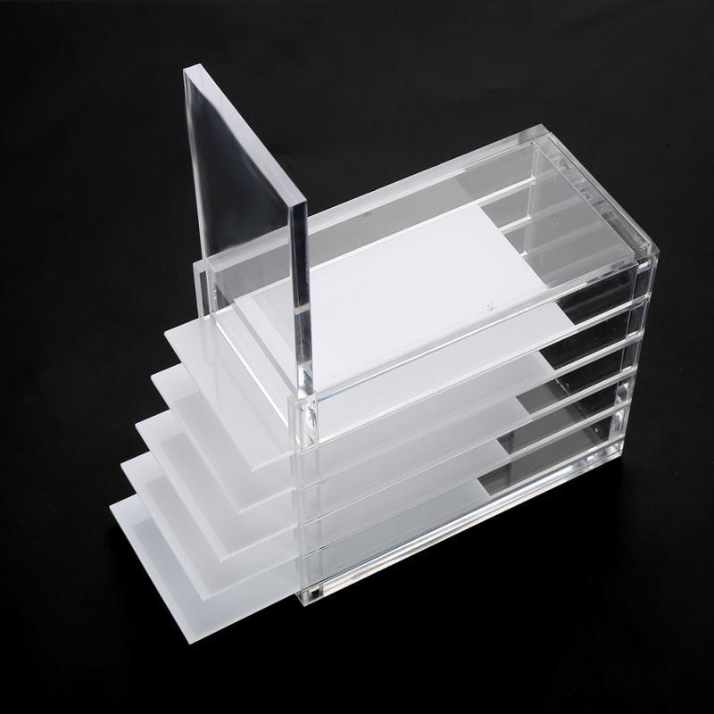 5 capas claro pestañas caja de almacenamiento organizador de maquillaje pestañas falsas pegamento de soportes de injerto de las pestañas extensión herramienta