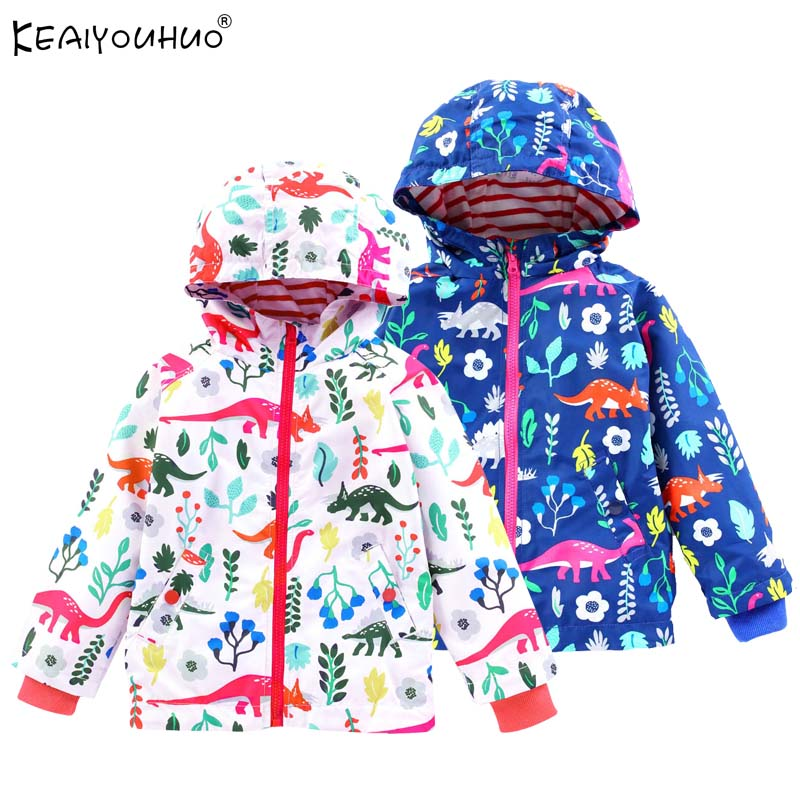 Jackets For Girls Coats Spring Kids Waterproof Raincoat Jacket Children Clothes Flowers Autumn Coats Girls Outerwear Windbreaker