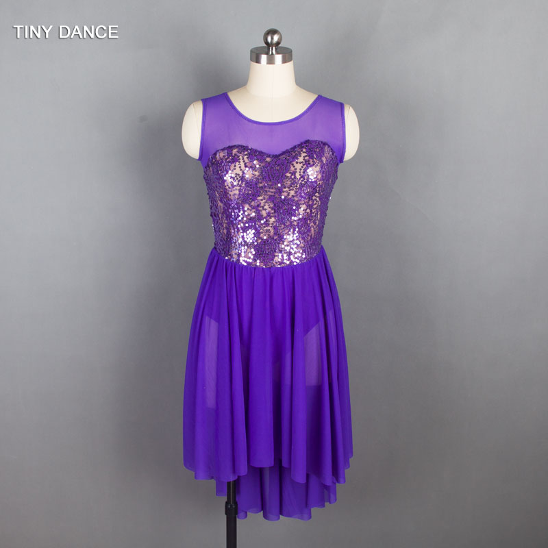 Picture of 2018 New Arrival Of Adult Girls Ballet Dance Costume Sequin Lace Lyrical And Contemporary Dance Dress 5 Colors Available 18418