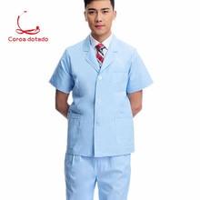 Short jacket for doctor short sleeve lab coat drugstore oral dentist