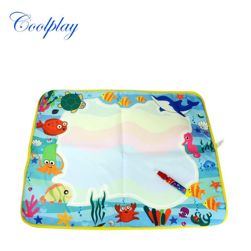 60*49 см детские игрушки вода рисунок мат магия с водой Pen доска для рисования Классический Развивающие игрушки Дети раннего обучения исследо...