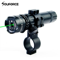 Tactical Range 300m Metal Green Laser Dot Sight With 20mm Rail Mount Gun Accessory For Rifle