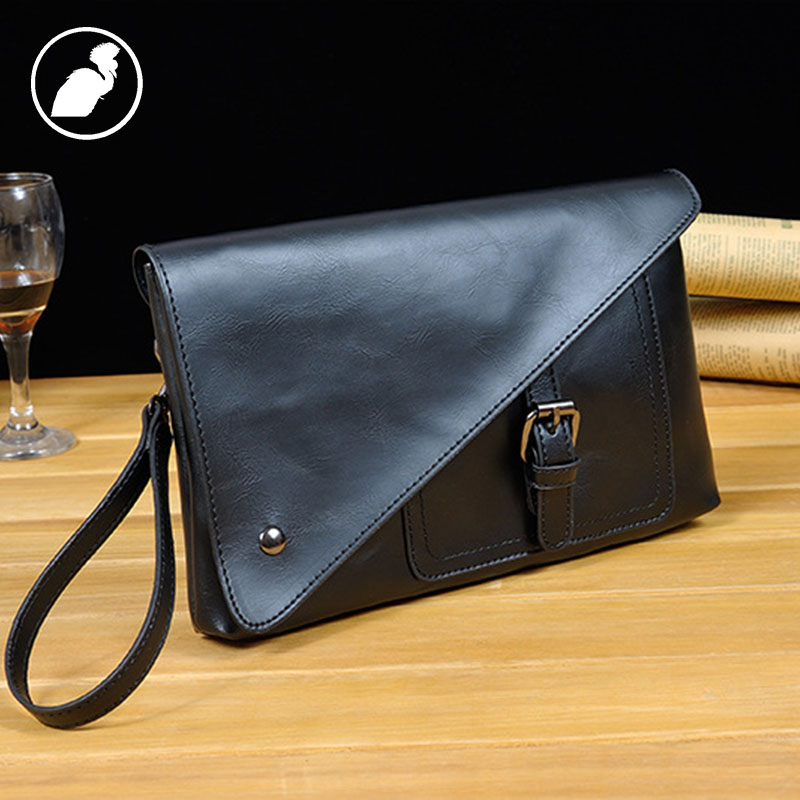 ETONWEAG Brands Cow Leather Womens Wallets And Purses Black Vintage Belt Men Clutch Bags Business Style Coin Purse Travel Wallet etonweag famous brands cow leather messenger bag men leather black vintage crossbody bags zipper business style mens small bag