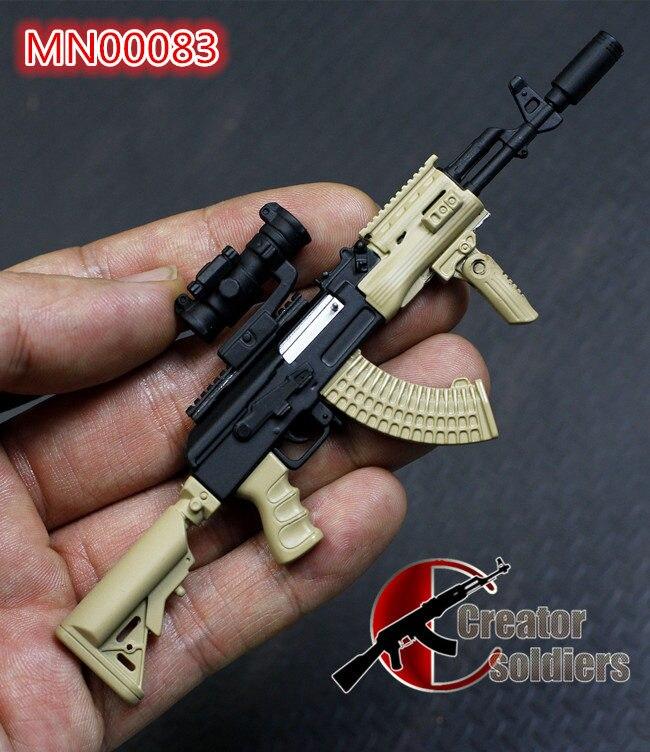 Minitoys Military 1 6 Weapon Model Russian Akm Ak47 Ak74 Metal Rifle