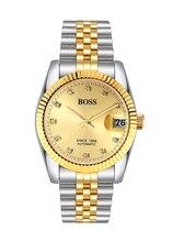 БОСС Германии часы мужчины люксовый бренд dayjust подлинные часы 21 ювелирные изделия MIYOTA ЯПОНИИ автоматические механические золотой relogio masculino