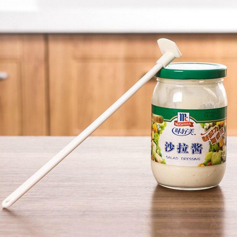 4pcs Long Handle Bottle Scraper Jam Spatula Sauce Ketchup Batter Cake Model