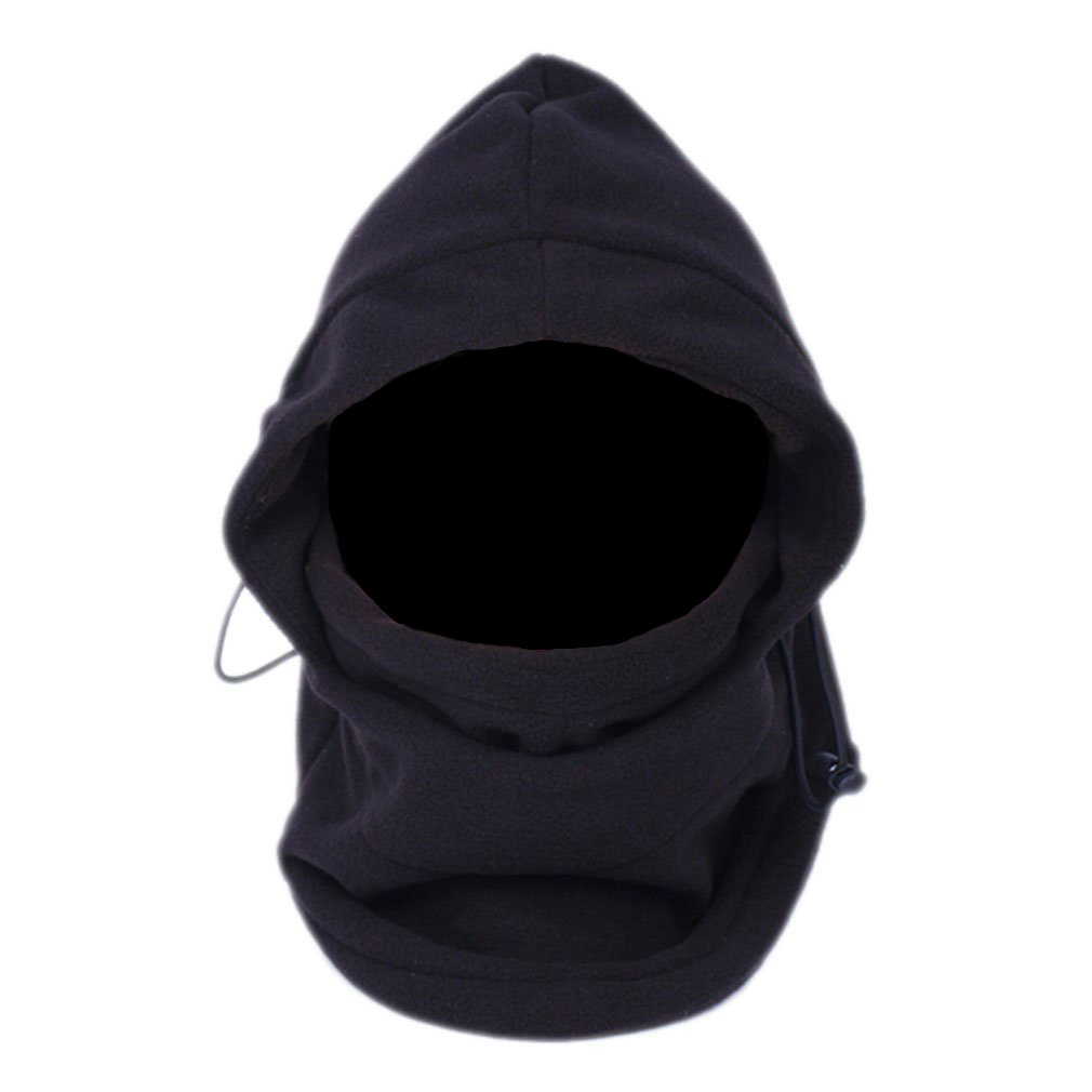 NEW SumDirect 6 in 1 Thermal Hat Bike Wind Stopper Face Mask Caps Neck Warmer(Black)