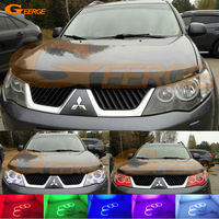 For Mitsubishi Outlander 2007 2008 Non Projector Excellent Angel Eyes Kit Multi Color Ultrabright RGB LED
