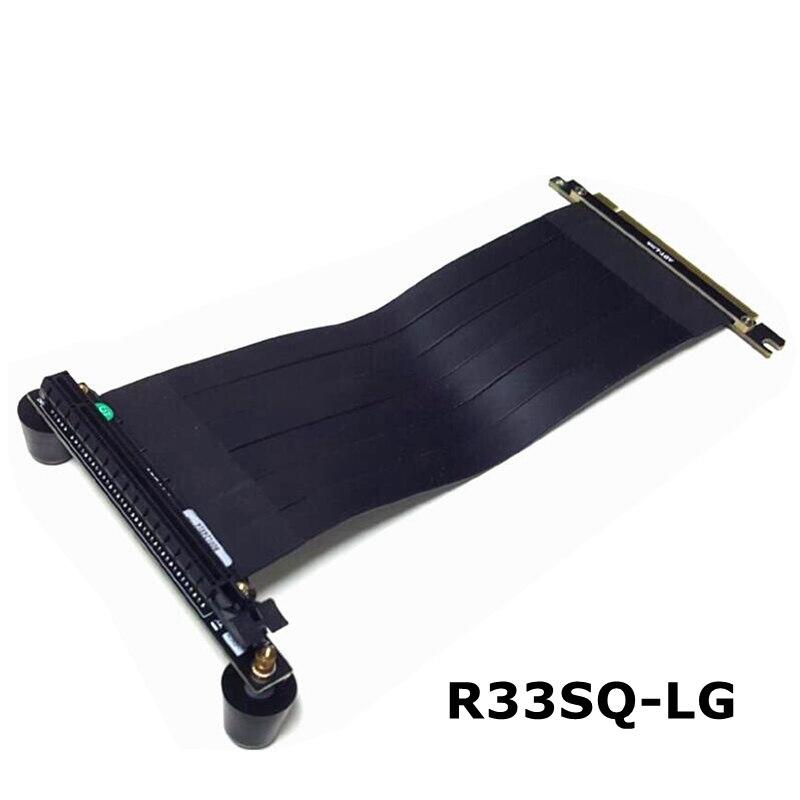 Com esteiras placa gráfica PCI-E 16x A 16x Cabo de Extensão fita PCIe x16 De Riser vertical Para H500i, NewArk90, ALFA 330, 550, H500M