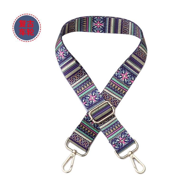 80 140cm Shoulder straps Adjustable Nylon Colored Belt Bags Strap Accessories for Women Rainbow Adjustable Shoulder Handle in Bag Parts Accessories from Luggage Bags