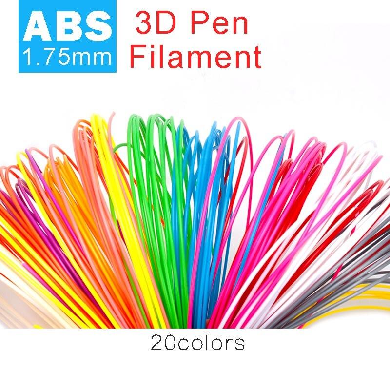 Origianl smaffox 3D matériel d'impression 1.75mm ABS filament hight qualité dessin matériel abs en plastique 5 mètres de long pour chaque couleur
