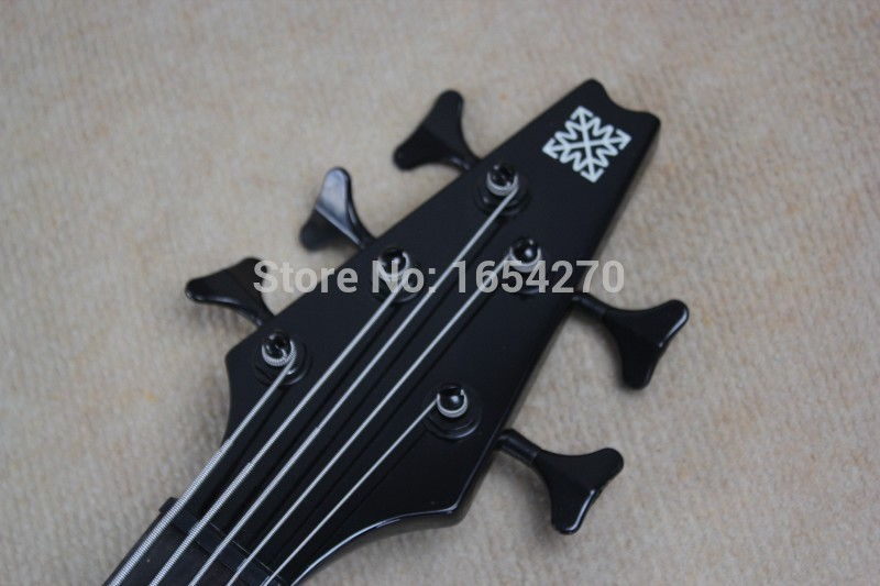 Free shipping New banjo clouds pattern green bass guitar electric ...
