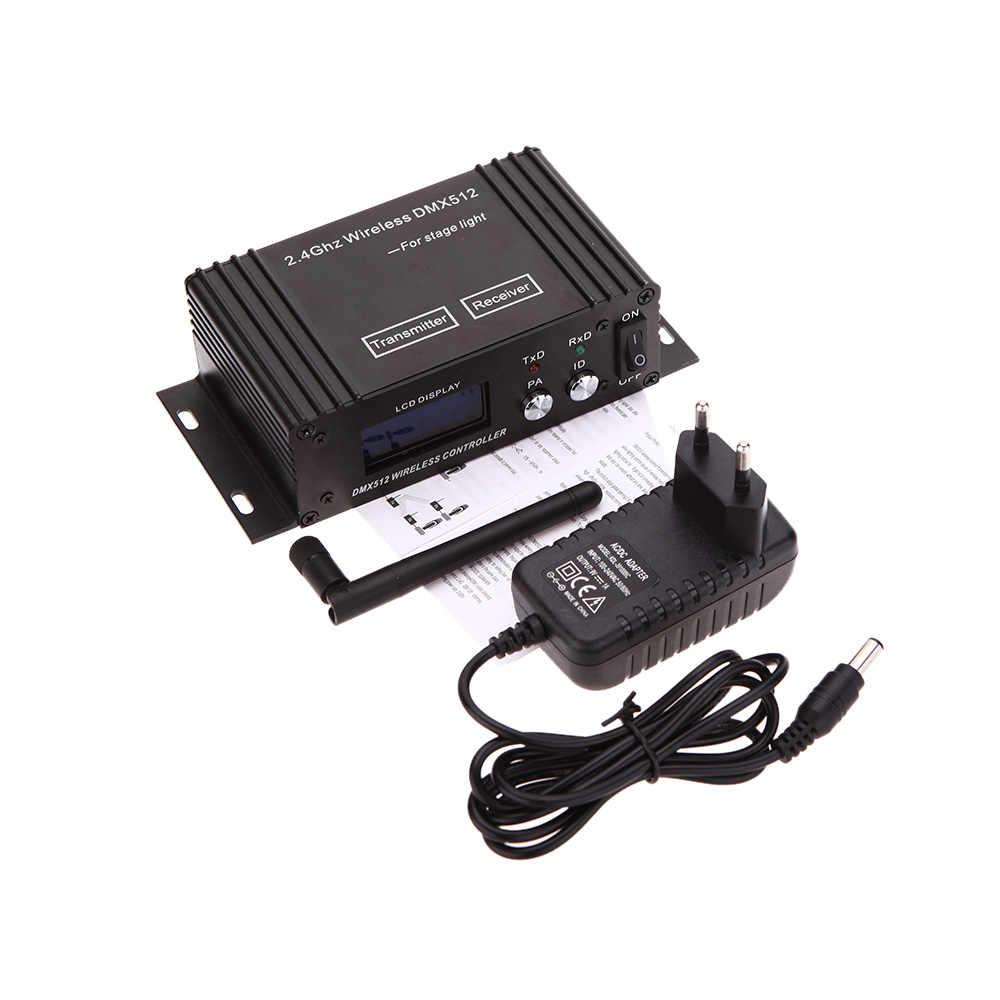 2,4G беспроводной Dmx 512 контроллер передатчик приемник ЖК-дисплей Dmx контроллер повторитель светодиодное оборудование для дискотек Par контроллер света