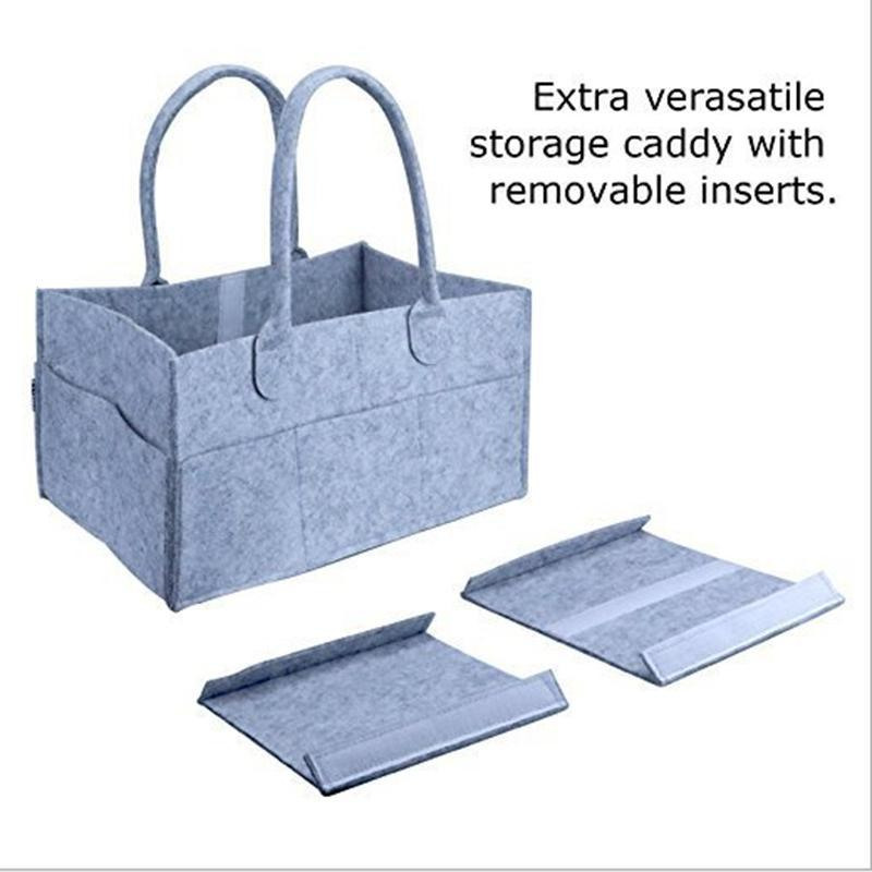 Baby Diaper Caddy Organizer Nursery Storage Bag for Diapers Wipes Portable Storage Basket Baby Gift Bag #11030