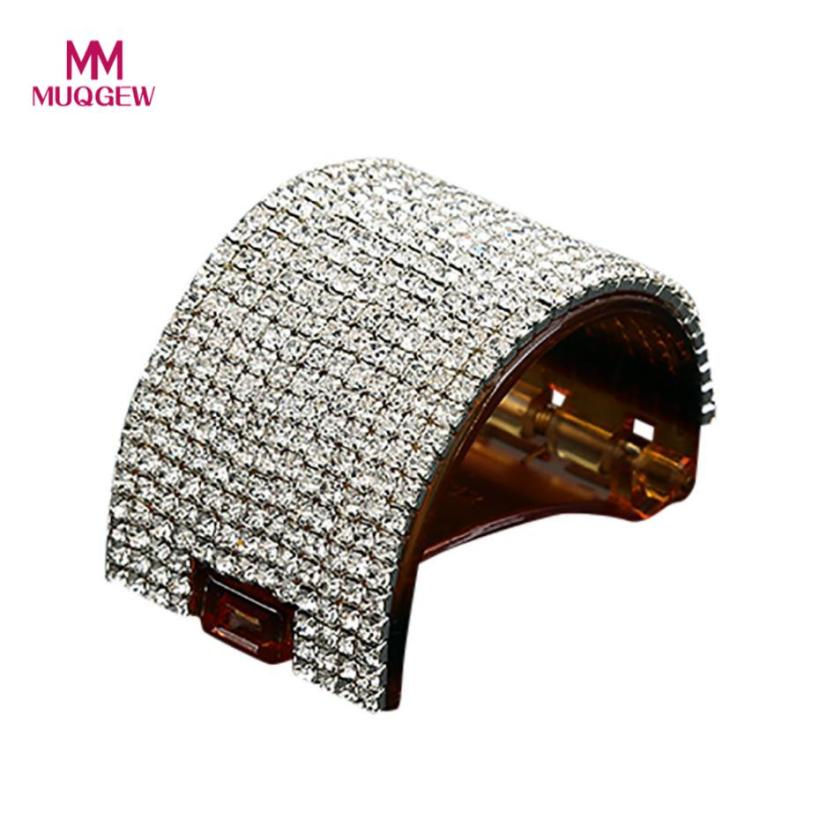 Women Girls Round Crystal Hairpin Hair newest style hot sale Claw Acrylic Jaw Ponytail Clip Grip Clamp horquillas grampos de cab