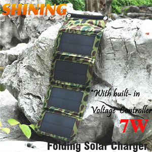 Image 3 - NEW! Frosted Waterproof 7W 5V Portable Folding Mono Solar Panel Charger USB Output Controller Pack for Phones iPhone PSP MP4