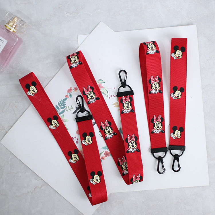 Cartoon Mouse Neck Strap Lanyards For ID Card Student Nurse Exhibition ID Name Card USB Badge Holder Hang Rope Lariat Lanyard