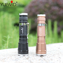 YUPARD Zoomable XM-L T6 Brightness rechargeable18650 Power LED Flashlight Torch Zoom Lamp Light tactical torch camp fishing